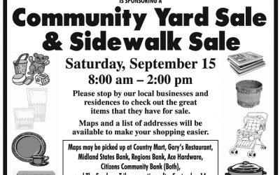 Freeburg Community Yard Sale & Sidewalk Sale September 15
