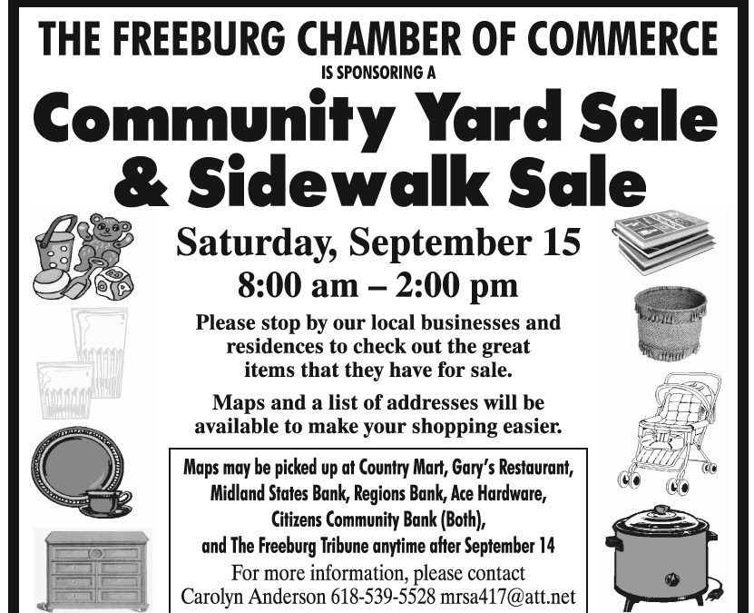 Freeburg Community Yard Sale & Sidewalk Sale September 15