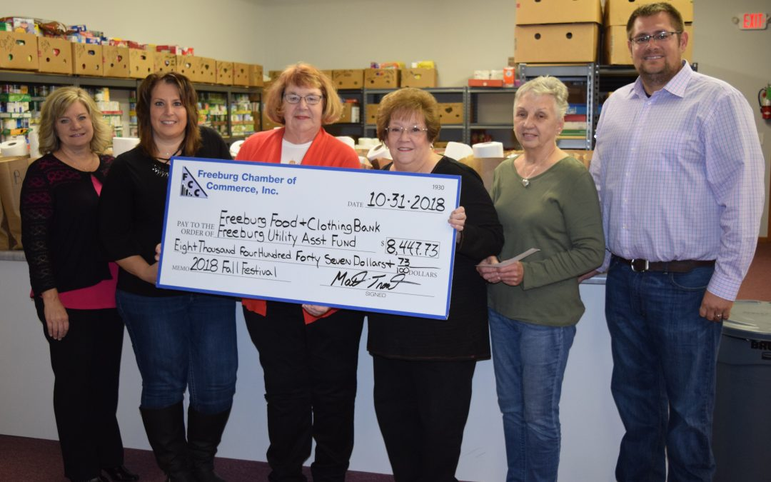 Freeburg Chamber Donates to Local Charities
