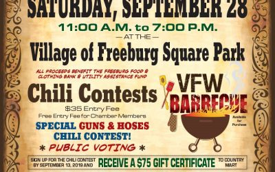 Fall Festival and Chili Cook Off September 28