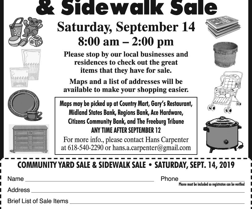 Freeburg Community Yard Sale September 14