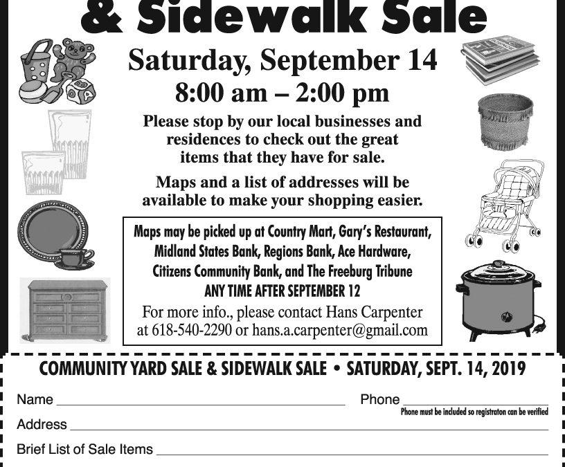 Freeburg Community Yard Sale September 14